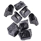 Aeloa Piedra curativa Mineral de Cuarzo Cristal de turmalina Negro Rough Rock Turmalina Piedra Turmalina Cristal áspero 1pcs