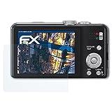 atFoliX Panzerfolie für Panasonic Lumix DMC-TZ31 Folie - 3 x FX-Shock-Clear stoßabsorbierende ultraklare Displayschutzfolie