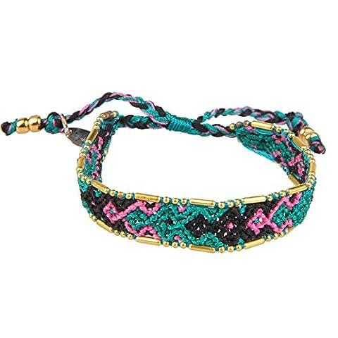 KELITCH Jahrgang Stil Multicolor Freundschaft Armband WickelArmband