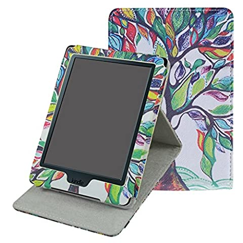 Kindle 8 Generation Hülle,Mama Mouth Ständer Schutzhülle Schale Smart Case mit Auto Sleep / Wake für der Neue Amazon Kindle (8. Generation - 2016 Modell) 6 Zoll eReader,Love Tree