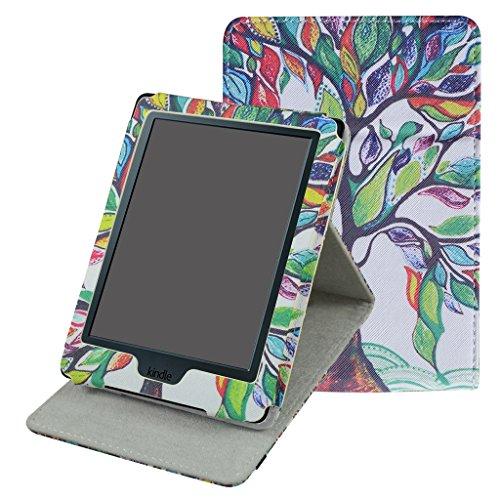 Kindle 8 Generation Hülle,Mama Mouth Ständer Schutzhülle Schale Smart Case mit Auto Sleep / Wake für der Neue Amazon Kindle (8. Generation - 2016 Modell) 6 Zoll eReader,Love Tree