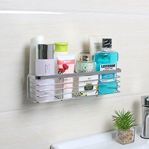 alma bano premium duschablage ohne bohren aus edelstahl befestigung durch einfaches kleben. Black Bedroom Furniture Sets. Home Design Ideas