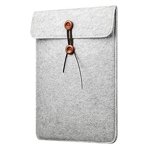15 Pouces Housse de Protection Macbook Air / Macbook Pro Retina Sacoche Feutre de Laine pour Ordinateur PC Portable Gris