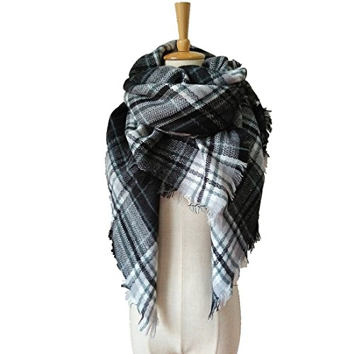 vinnelr-tartan-fashion-scarfs-for-women-lovely-best-gift-scarf-wrap-shawl-black-white