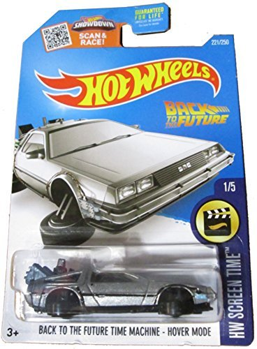2016 Hot Wheels Screen Time Hover Mode Back To the Future Time Machine Delorean by Hot Wheels