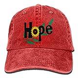 Aoliaoyudonggha Sunflower Hope Denim Hat Adjustable Men Plain Baseball Cap