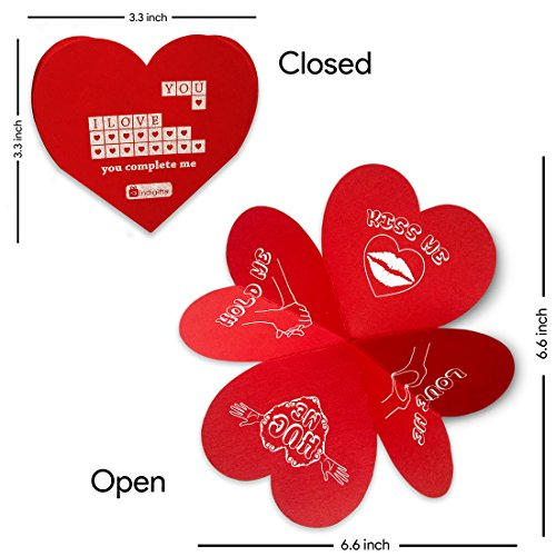 Buy Indibni Valentine Day Gift Love Quote Hearts On A String White