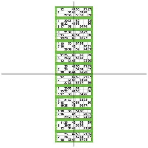 ClubKing-Ltd-Jumbo-Bingoticket-Block-fr-Einzelspiele-12-pro-Seite-Grn