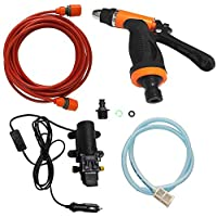 RuiXue Car Washer - Car Washer Gun Pump High Pressure Cleaner Car Care 12V Portable Washing Machine Electric Cleaning Auto Device Self-priming Tool
