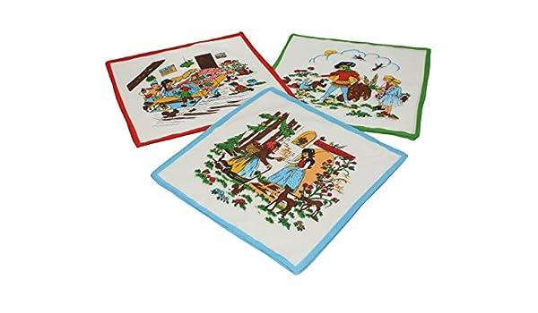 Modello /« Pilou/» 30x30cm 6 pezzi Fazzoletti per Bambini