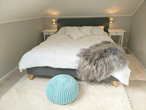 Bettdecke 4 jahreszeiten fur allergiker mit Clips. Decke gegen Milben, leicht, ohne Bezug. Einzelbett vier jahreszeiten.