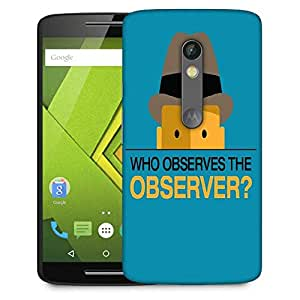 Snoogg Who Observes The Observer 2843 Designer Protective Phone Back Case Cover For Moto G 3rd Generation