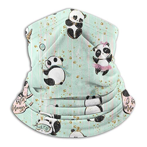 Jkhhw scaldacollo in pile ghette panda unicorno morbido microfibra copricapo maschera sciarpa maschera per il freddo invernale e tenere al caldo per uomo donna