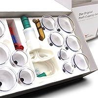 Preisvergleich für Profi Schröpfglas-Set aus hochwertigem Kunststoff mit Therapiemagneten - professionelles, medizinisches Schröpfset...