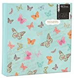 Anker Floral Birdcage Glue Bound 2-Up Slip-In Photo/Picture Album with Memo Writing Space to Fit 200 4 x 6-Inch Photos