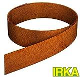IRKA Rasenkantenband aus Corten Stahl 15 cm hoch Edelrost Mähkante Beeteinfassung Rasenkante 20 Meter