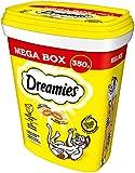 Dreamies Katzensnacks Katzenleckerli MegaBox mit Käse, 2 Dosen (2 x 350 g)