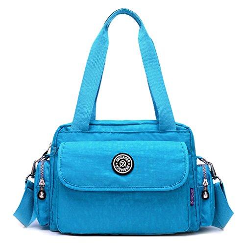 Frauen Messenger Vintage Mode Crossbody Handtaschen solide Wasserdichtes Nylon Umhängetaschen
