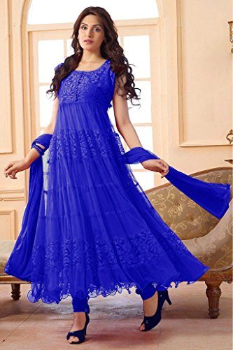 ROYAL FASHION BLUE COLOR BRASO SALWAR SUIT