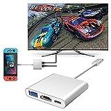 Ecomac USB Typ C auf HDMI Adapter für Nintendo Switch Samsung S9/Note 9, MacBook Pro Google Chromebook, HP Spectre