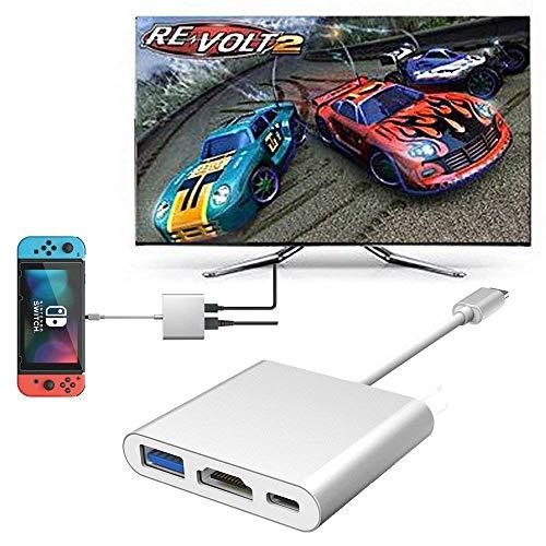 Ecomac USB tipo C a HDMI adattatore interruttore per Nintendo Samsung S9/Note 9, Google Chromebook Macbook Pro, HP Spectre