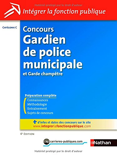 Concours Gardien de police municipale et Garde-champtre - Catgorie C
