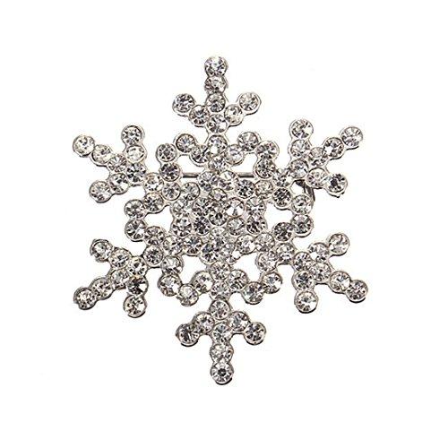 HUAYANG Elegante Kristallrhinestone Schneeflocke Entwurf Hochzeit Braut Brosche Weihnachtsdekor