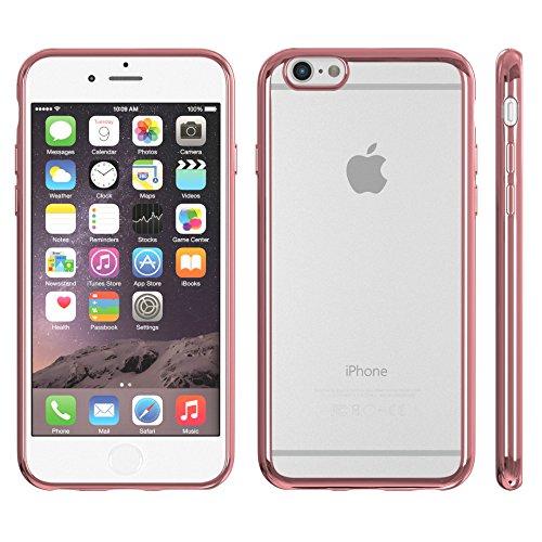 Apple iPhone 6 / 6S Hülle, EAZY CASE Chrom Cover - Premium Handyhülle als Schutzhülle im Metallic Design in Silber Rosa