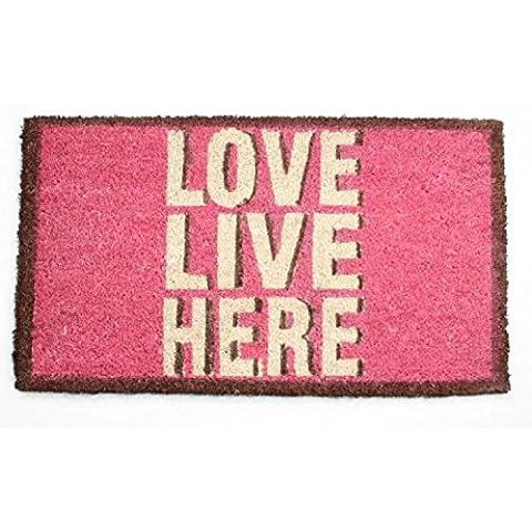 Ispirazione - Love Live Here, Retro Style Zerbino (70 x 40cm)