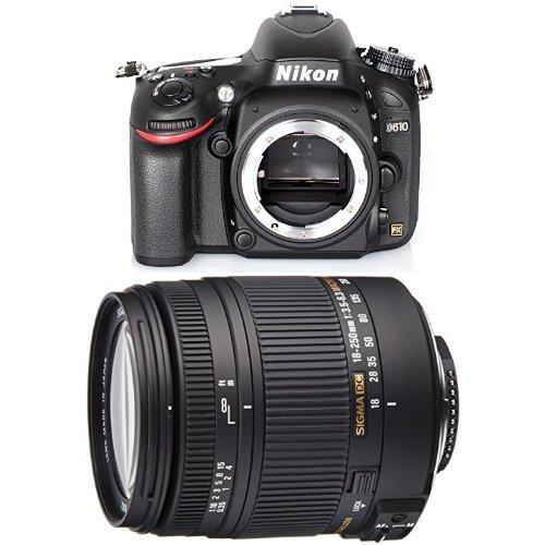 Nikon D610 SLR-Digitalkamera Gehäuse schwarz + Sigma 18-250 mm Objektiv (Nikon Slr-digitalkamera D600)