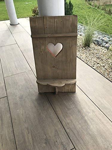 Fensterladen Almi mit Herz mit Ablage in Shabby Design