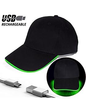 Fashion&Cool Gorra Luminosa LED para Deportes Fiestas Running para Hombre Mujer Chico Niña, Ajustable, Baterías...