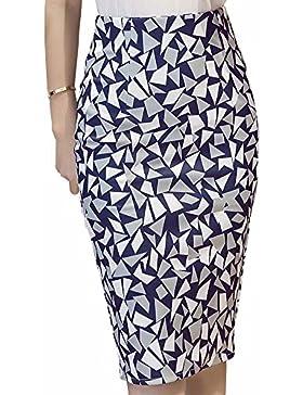 Minetom Mujeres Verano Patrones Geométricos Faldas Cortas Elástico Atractiva Cintura Alta Paquete de Cadera Mini...