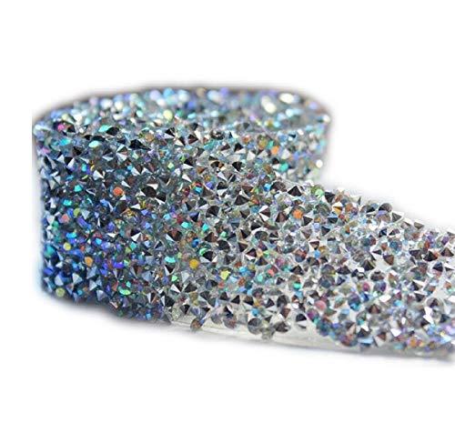 Yalulu 1 Yard Glitter Tape Sparkly Tape glänzend Masking Acryl Rhinestone Klebeband klebrige DIY...