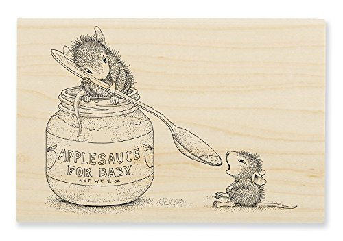 Stampendous hmp90Haus Maus Holz Stempel, Feeding Baby -