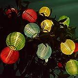 3CLifewaren Solar Lichterkette 20er LED Laterne Solarleuchte Garten Innen und Außenbereich Solarlichte Solarlampe für Partzy Garten Weihnachten Dekoration