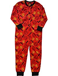 a25d8a531 Boys Manchester United Football Cotton Onesie Pyjamas Ages 3 to 10 Years
