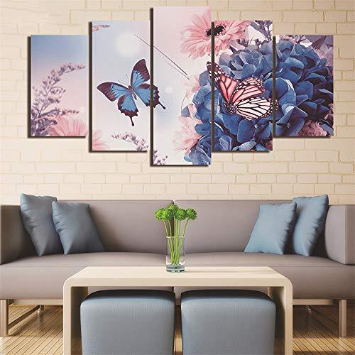 SUYUN Pintura Decorativa,Cinco Pintura al óleo de inyección de Tinta en casa...