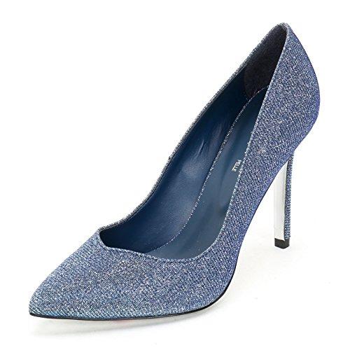 ALESYA by Scarpe&Scarpe - Scarpe col Tacco con effetto lurex Blue