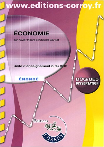 Economie DCG 5 : Enoncé