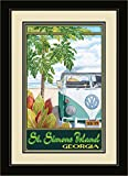 Northwest Art Mall ed-5861fgdm STH St. Simons Island Georgien Truck Hula gerahmtes Wandbild Kunst von Künstlerin Evelyn Jenkins Drew, 40,6x 55,9cm