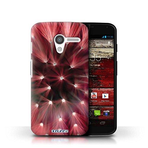 Kobalt® Imprimé Etui / Coque pour Motorola MOTO X / Jaune conception / Série Couleur/Lumière Fleur Rouge