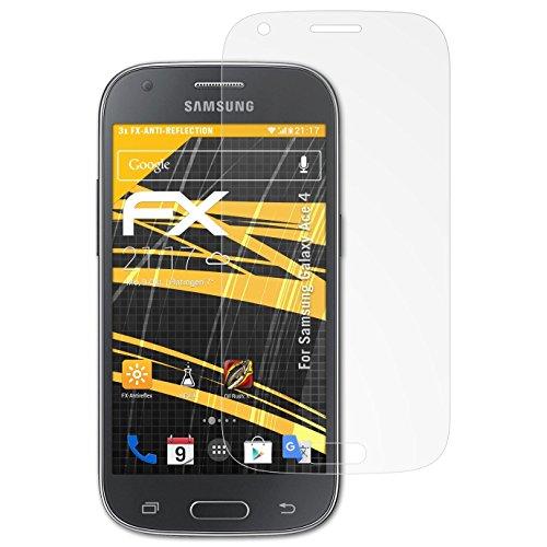 atFolix Panzerfolie kompatibel mit Samsung Galaxy Ace 4 Schutzfolie, entspiegelnde & stoßdämpfende FX Folie (3X)