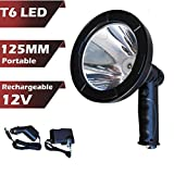Hand Held Spotlight Rechargeable T6 LED 5' 2500lm Ultra Bright for Emergency Search