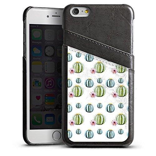 Apple iPhone SE Housse Outdoor Étui militaire Coque Cactus Motif Motif Étui en cuir gris