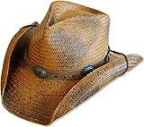 STARS & STRIPES Strohhut Westernhut Cowboyhut »RED Rock« Gr.XXL