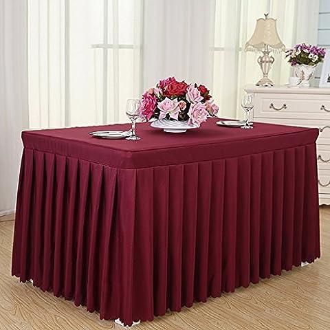 tovaglie hotel, freddo gonne tavolo da pranzo, tovaglie conferenze, tovaglie, tovaglie, formato, 160 * 60 * 75cm ( colore : Vino rosso )