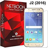 NETBOON® Branded Samsung Galaxy J2 (2016) Tempered Glass Screen Guard – [HD Crystal Clear Premium Quality Screen glass protector, Anti-Scratch Original Screen Protector Gorilla Glass - 9H Hardness]