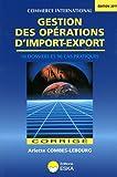 Gestion des Opérations d'Import-Export-Corrigé-Edition 2011