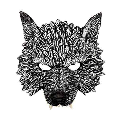 Halloween Tiermaske Maske,Janly Unisex Schurken Kostüm Party Ball Halloween Karneval Werwolf - Werwolf Kostüm Leicht